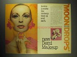 1968 Revlon Moon Drops Demi Makeup Ad