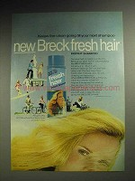 1970 Breck Fresh Hair Instant Shampoo Ad - Keeps Clean