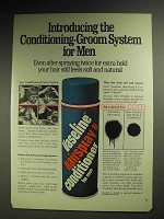 1972 Vaseline Hair Spray Conditioner for Men Ad