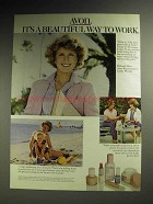 1979 Avon Cosmetics Ad - A Beautiful Way to Work