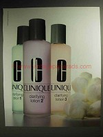 1989 Clinique Clarifying Lotion 1, 2, 3 Ad