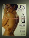 1998 Pond's Untra Silk Body Lotion Ad - Face Jealous
