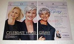 2000 L'Oreal Gray Chic Hair Color Ad - So Radiant