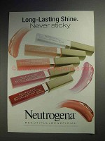 2003 Neutrogena MoistureShine Gloss Ad - Never Sticky