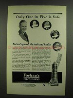 1923 Forhan's Toothpaste Ad - Only One in Five is Safe