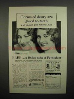 1930 Pepsodent Toothpaste Ad - Germs of Decay