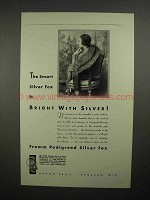 1931 Fromm Pedigreed Silver Fox Scarf Ad - Bright