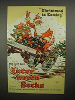 1945 Interwoven Socks Ad - Christmas is Coming