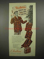 1951 Pendleton Clothes Ad - 5 Tartan Gifts in Wool