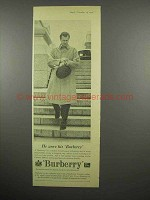 1959 Burberry Coat Ad - He Wore His Burberry