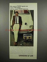 1965 Lee Leesures Slacks Ad - He Owns $2300 Sports Car