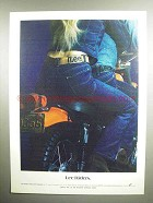 1972 Lee Riders Jeans Ad - Motorcycle
