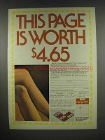 1984 Hanes Alive Support Pantyhose Ad - Page is Worth