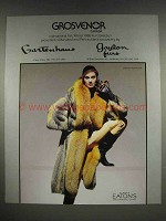 1986 Grosvenor Furs Ad