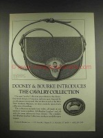 1986 Dooney & Bourke Cavalry Collection Bag Ad