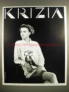 1987 Krizia Designer Fashion Ad