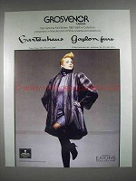 1987 Grosvenor Mink Coat Fur Ad