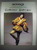 1987 Grosvenor Fur Coat Ad