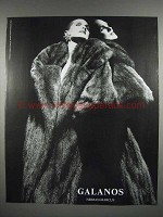 1987 Galanos Fur Coat Fashion Ad
