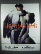 1988 Grosvenor Coyote Coat With White Fox Scarf Ad