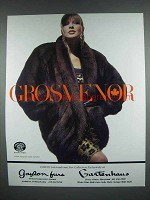 1988 Grosvenor Sobol Natural Sable Stroller Fur Ad