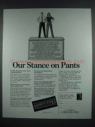 1988 Lands End Clothes Ad - Our Stance on Pants