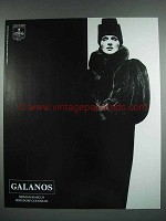 1988 Galanos Fur Coat Ad