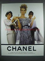 1990 Chanel Designer Fashion Ad!