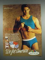 1990 Fruit of the Loom Underwear Ad - Style That Fits
