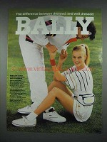 1991 Bally Athletic Footwear, Activewear Fashion Ad