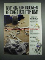1992 BVD Underwear Ad - What Will Your Underwear Be Doing A Year From Now
