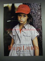 1997 Ralph Lauren Fashion Ad - For Girls 4 to 6x