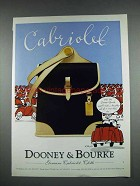 1997 Dooney & Bourke Cabriolet Cloth Handbag Ad
