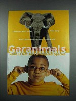 2000 Garanimals Fashion Ad - Elephant
