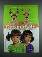 2001 Garanimals Fashion Ad - Deer