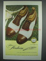1946 Florsheim Brown and Whites Shoe Ad