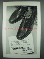 1946 Florsheim Shoes Ad - One Pair Must do Job of Two