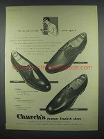1958 Church's Shoes Ad - Lombard, Gascon, Jermyn