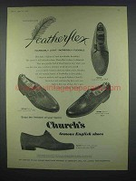 1959 Church's Shoes Ad - Monk, Savoy - Featherflex