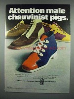 1971 Hush Puppies Shoes Advertisement - Male Chauvinist Pigs