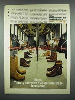 1973 Dingo Boots Ad - The City Boot With a Western Heritage from Acme