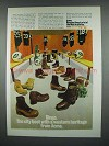 1973 Dingo Boots Ad - Western Heritage from Acme