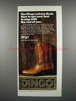 1975 Dingo Leisure Boot Ad - Get Feet In Step