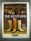1979 Acme Boots Ad - The Westerns