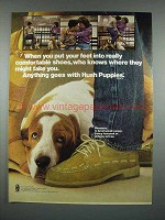 1980 Hush Puppies Shawnee Shoe Ad - Comfortable