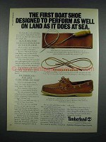 1981 Timberland Shoes Ad - Boat Shoe Performs on Land