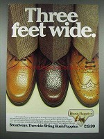 1983 Hush Puppies Shoes Ad - Maine, Chicago, Boston