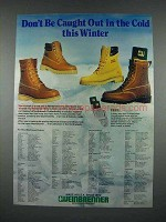 1983 Weinbrenner Boots Ad - Don't Be Out in the Cold