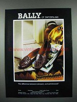 1989 Bally of Switzerland Shoes Ad - Well-Dressed