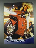 2004 Skechers Sneakers Shoes Ad - Put S in Action - Motorcycle